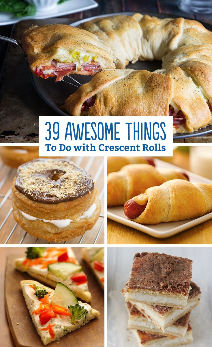 Mar 27, · The crust will be rather thin if you use only 1 tube for a whole cookie sheet. I often will use 2 to make it go a bit faster and easier. Fry up a batch of ground sausage, put that sausage on the crescent roll truezloadmw.gae: American.