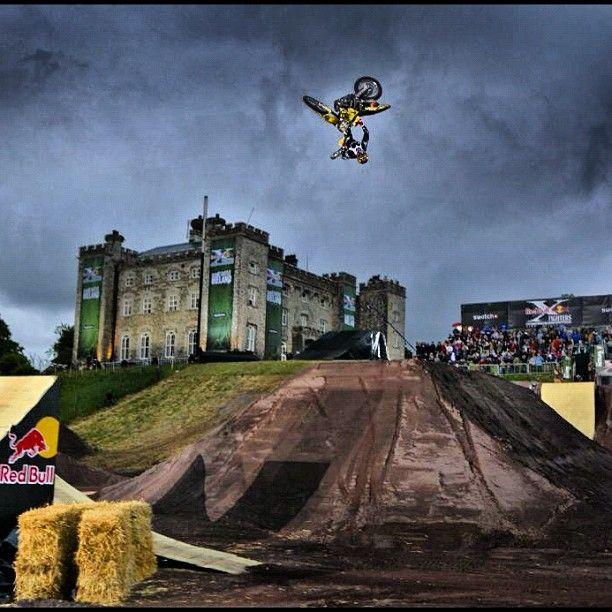 @TravisPastrana in flight. Via @Red Bull