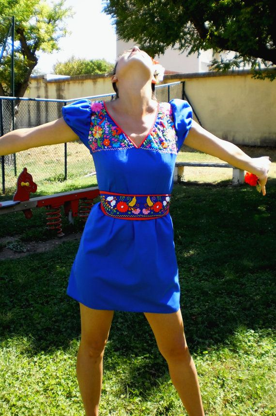 Hey, I found this really awesome Etsy listing at https://www.etsy.com/uk/listing/243743679/dress-v-neck-with-mexican-embroidery
