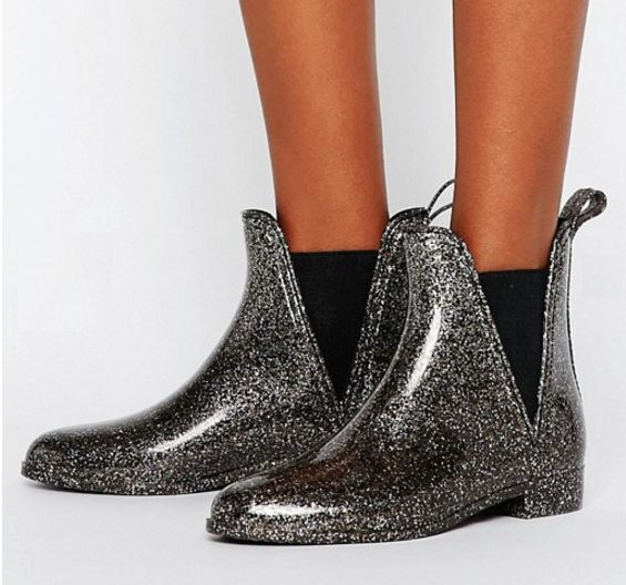 Glittery boots to help you sparkle, even when you're soggy. | 15 Cute Pieces Of Rain Gear To Make Your Gray Days Brighter