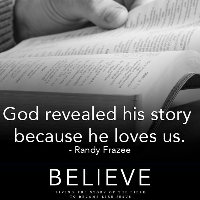 It is out of love that God revealed His story and salvation to us.