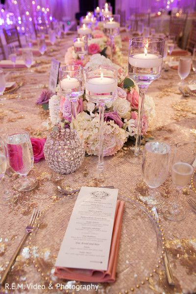 Indian wedding reception floral and  decor http://www.maharaniweddings.com/gallery/photo/91408 @source/blissfulweddingsandevents.com