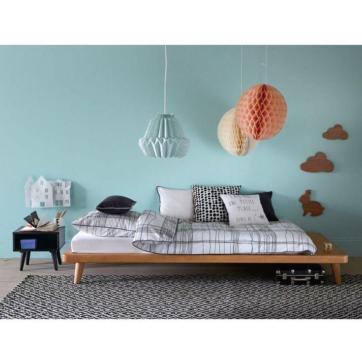 lit plateforme sommier tablette jimi. Black Bedroom Furniture Sets. Home Design Ideas