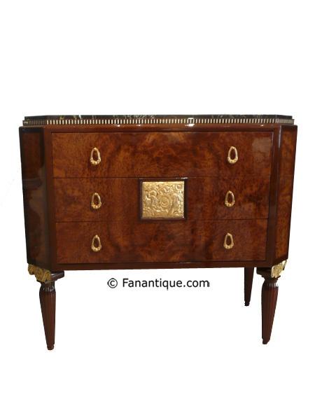 Maurice Dufrene, art deco mahogany chest