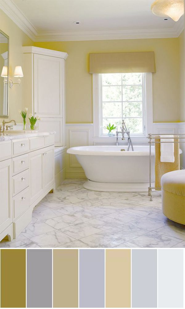 25 best ideas about yellow color schemes on pinterest Bathroom color palettes