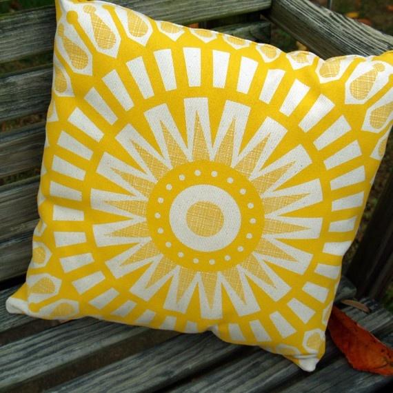 Small Talk Studio Cool Mod Sunny Pillow $30