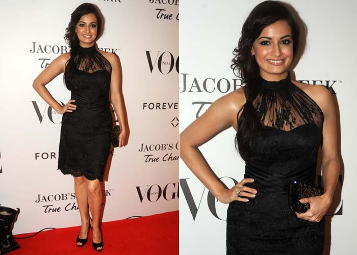 Dia Mirza looks smashing in her LBD at the Vogue anniversary bash. We give her full marks for her glam quotient.Fantasy Wardrobes, Anniversaries Bash, Glam Quotients, Dia Mirza, Vogue Anniversaries, Anniversaries Parties, Full Mark