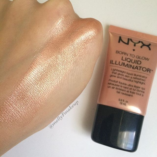 NYX Born To Glow Liquid Illuminator in Gleam. Follow my instagram @mellyfmakeup for more!