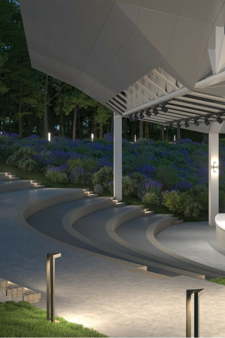 The unique  dynamic design of the Vox bollard by Tech Lighting creates  abundant outdoor path lighting while accenting a modern aesthetic 41 best Outdoor Lighting Ideas images on Pinterest   Lighting  . Modern Exterior Path Lighting. Home Design Ideas