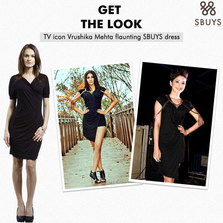 SbuyS: Don't dress to kill, dress to survive !! Get the Look TV icon Vrushika Mehta flaunting little black SBUYS dress@ www.sbuys.in Feel it, buy it, flaunt it, walk like a diva...!! #sbuys #kneelengthdress #littleblackdress #celeblookalike #womenwear #fashionableclothing