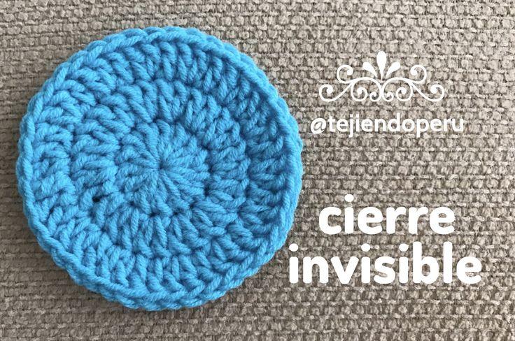 Crochet: cierre invisible para tejido circular o cerrado! Video del paso a paso