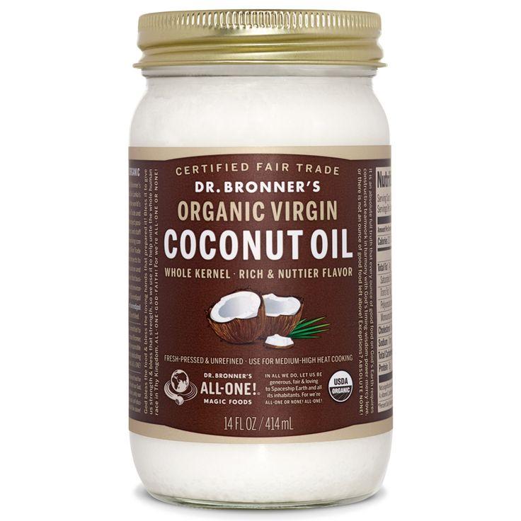 Dr. Bronner's Magic Soaps Retail Store Whole Kernel Organic Virgin Coconut Oil - 14 oz.