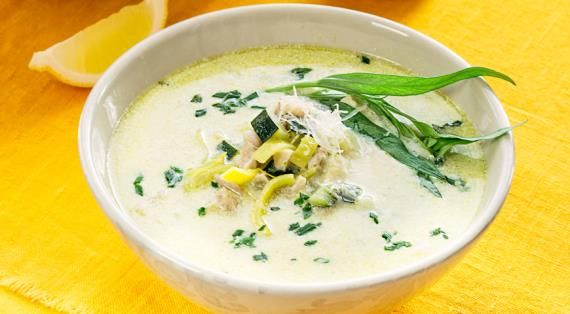 Суп скабачками ивареной курицей, пошаговый рецепт с фото