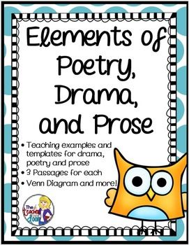 elements of poetry drama and prose for 3rd 5th grade elements of poetry drama and prose. Black Bedroom Furniture Sets. Home Design Ideas