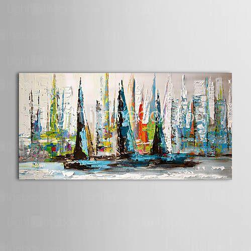 iarts®oil peinture bateau paysage de la voile avec cadre étiré prêt à accrocher toile peinte à la main de 1166097 2016 à €43.54