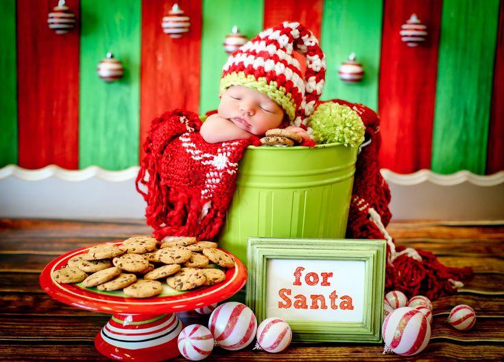 Newborn Christmas photo #newbornChristmaspic