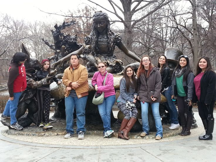 Student group that traveled to New York over Spring Break 2015.