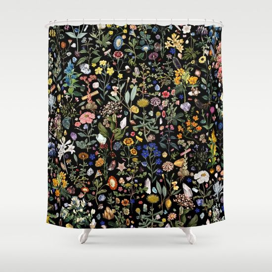 """""""Healing"""" Shower Curtain by Fifikoussout on Spciety6 #crystal #floral #society6 #showercurtain"""