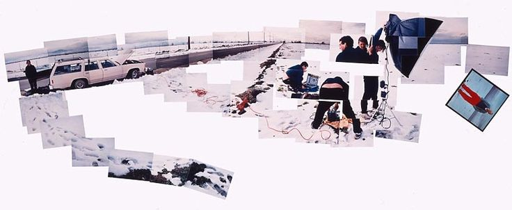 Collage Mojave Desert 1983 :: David Hockney photographing Annie Leibovitz while she's photographing him