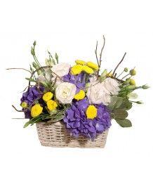 Cosuri de flori Cos hortensie si lisianthus