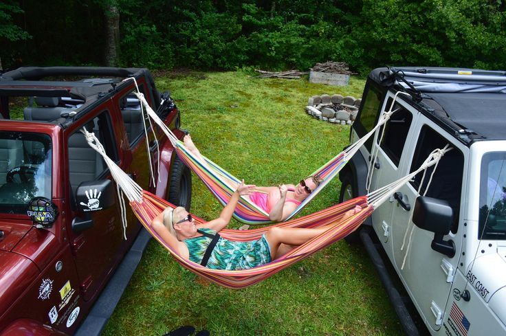 Jeep hammocking, coolest thing ever...love doing this!