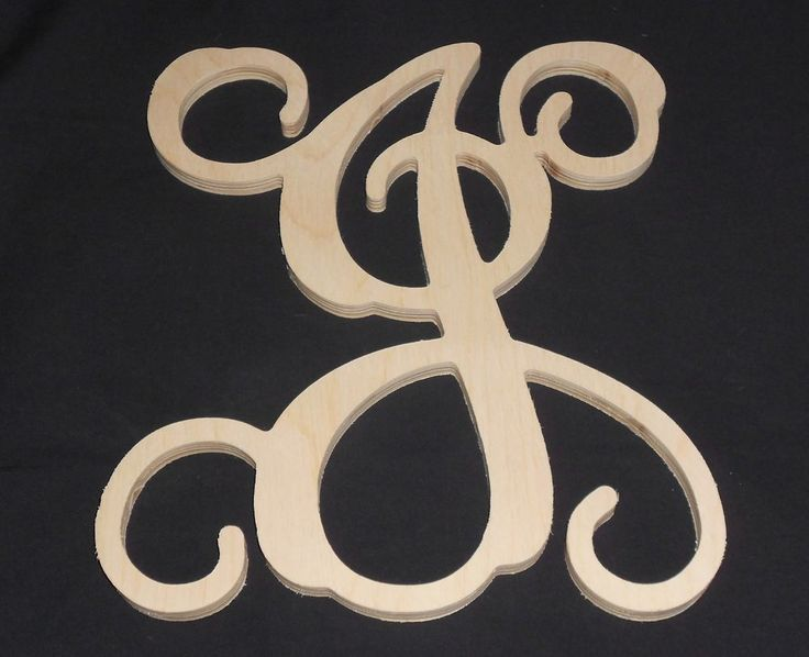 18 wooden vine letter unfinished wood letters room decor childrens room handmade