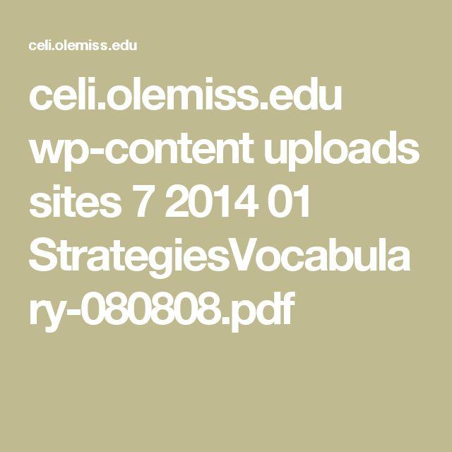 celi.olemiss.edu wp-content uploads sites 7 2014 01 StrategiesVocabulary-080808.pdf