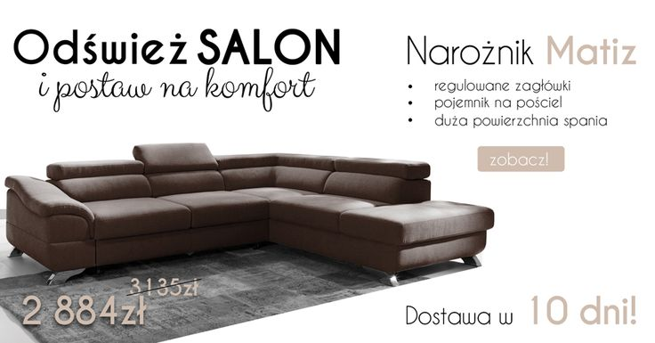 Super SALE %%%% Corner sofa Matiz is perfect for your Living room :)  Wielka promocja! Narożnik Matiz jest idealny do Twojego salonu! #corner #sofa #narożnik #mirjan24 #dom #home