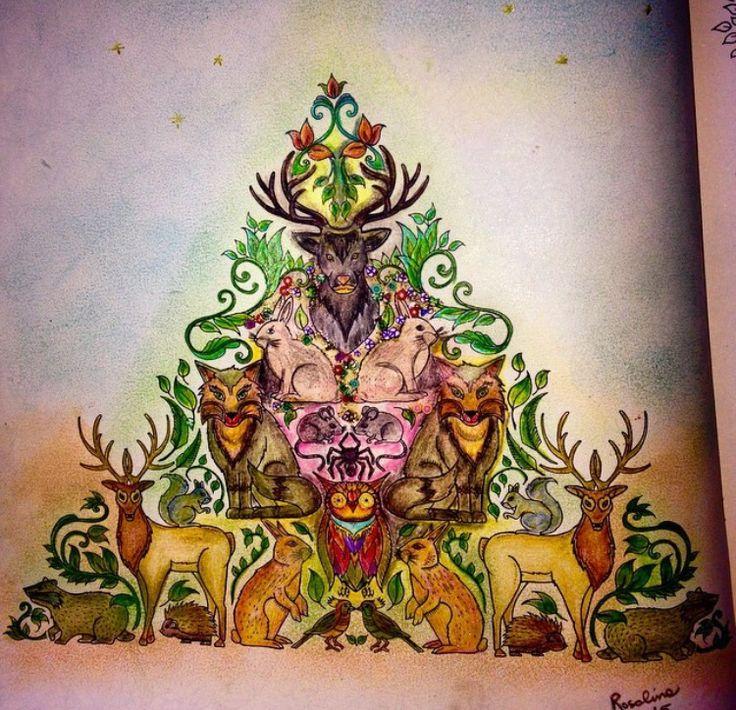 Mandala Painting Adult Coloring Books Colouring Johanna Basford Book Stuff Enchanted Triangle Art Therapy