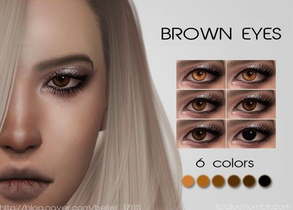 BROWN EYES for The Sims 4 by Lipaluci
