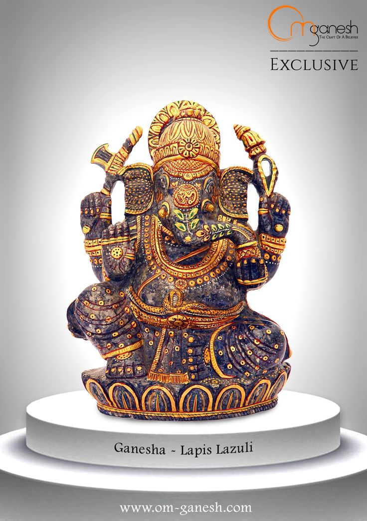 A symbolism for opulence, knowledge, health and bliss, this unique Ganesha idol is sure to create divine vibrations in your home.#Symbolism #Opulance #knowledge #Health #Bliss #unique #Ganesha #Idol #Create #Divine #Vibration #OmGaneshCrafts
