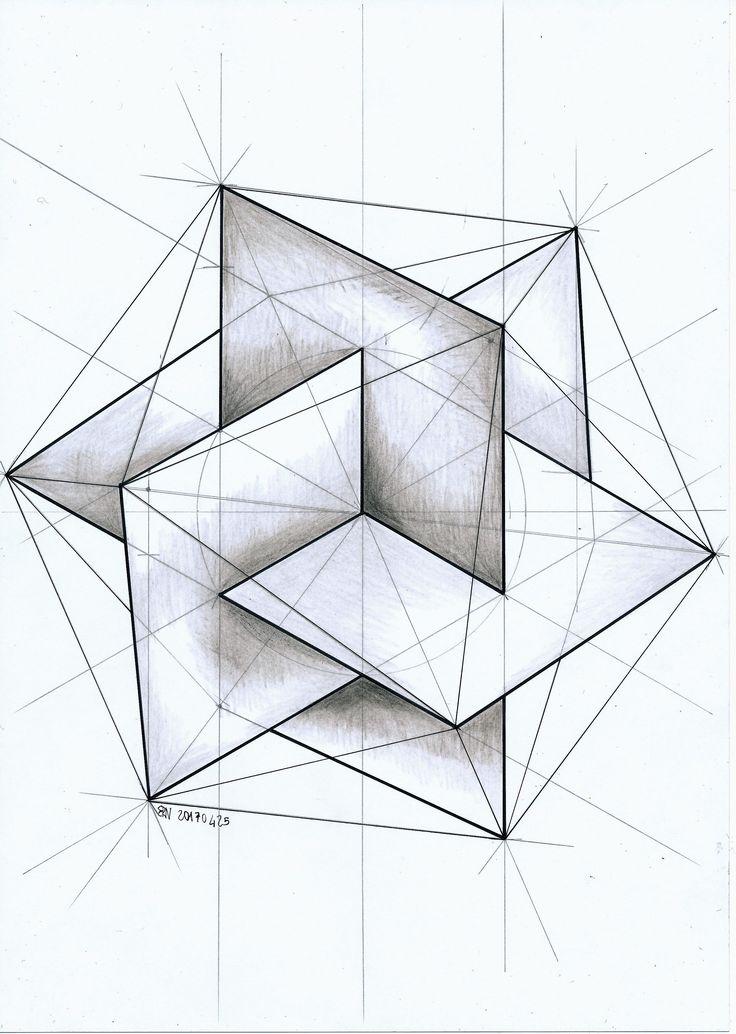 #polyhedra #solid #geometry #symmetry #handmade #hexagon #triangle #mathart #regolo54 #escher