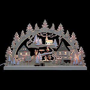 Traumhafter Schwibbogen aus dem Erzgebirge - gehört zu jeder Weihnachtsdekoration dazu.
