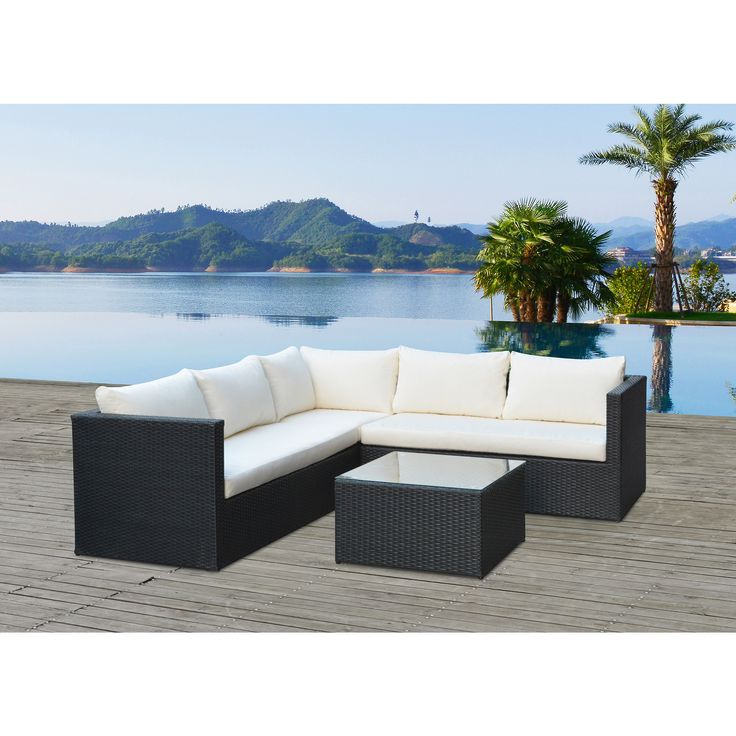 Enjoy the fresh air and scenic nature outside with this Lima conversation and dinning set that seats up to 9 people. Tufted cushions will provide you maximum comfort.