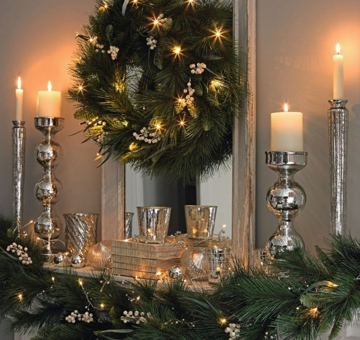 christmas mantel decorations ideas 31 Best Christmas Mantel Decorating Ideas for…