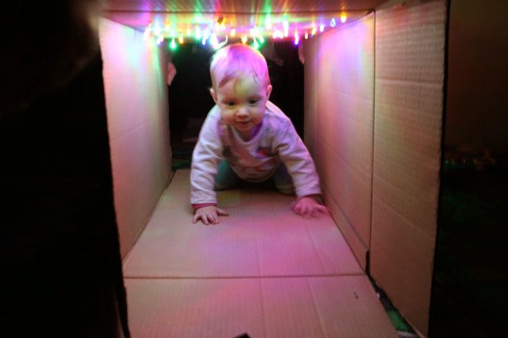 edu-mata, crawling tunnel, tunel do raczkowania, zabawka DIY, zabawki za grosz,