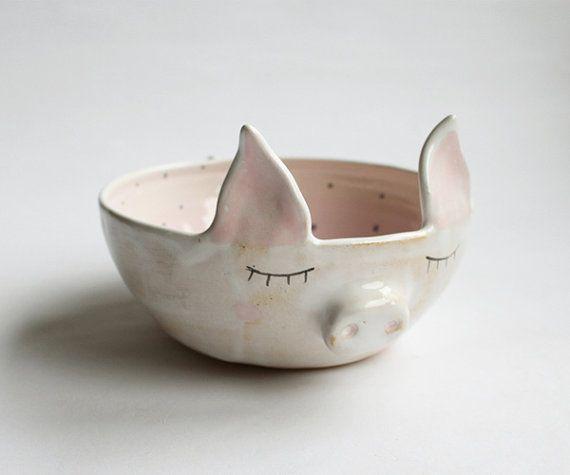 Adorable Pig Handmade Ceramics by Clay Opera
