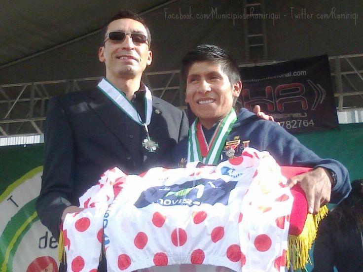 La foto de dos campeones que quedará en la historia. ¡Mauricio Soler y Nairo Quintana!