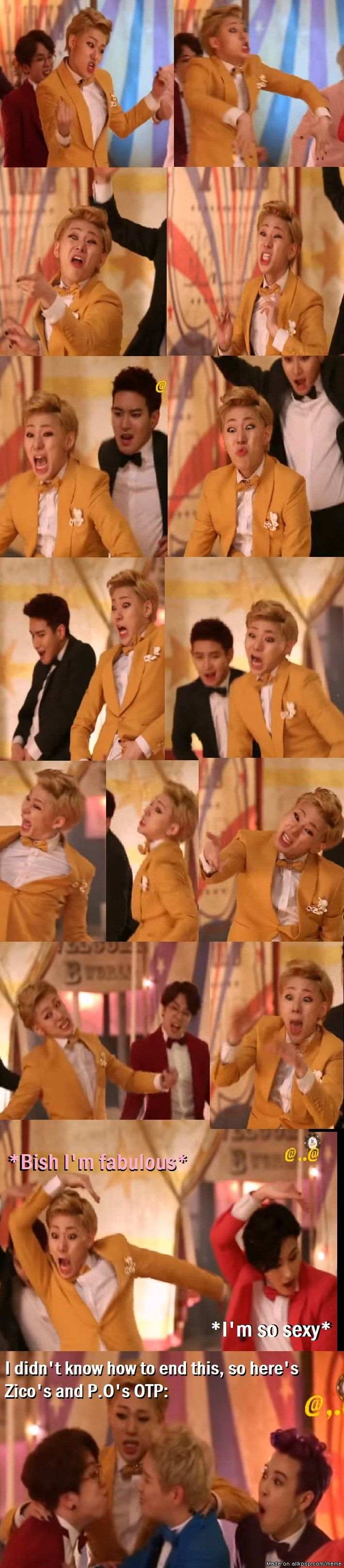 A collection of Zico's faces during the filming of Jackpot