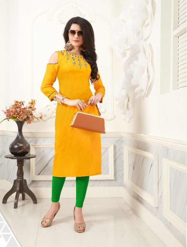 e8e7ef24b1 rayon embroidered kurti catalog 1101 series | Kurtis Collections ...