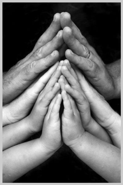 Generations...of beautiful hands. Actually, no matter what hands look like....they ALWAYS tell a story!