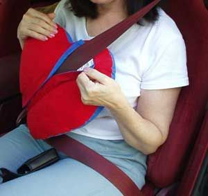 Heart Surgery Pillows - For Coughing, Sternum Support & Seatbelt Protection