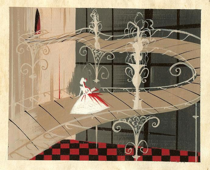 disney concept art by Mary Blair and Eyvind Earle