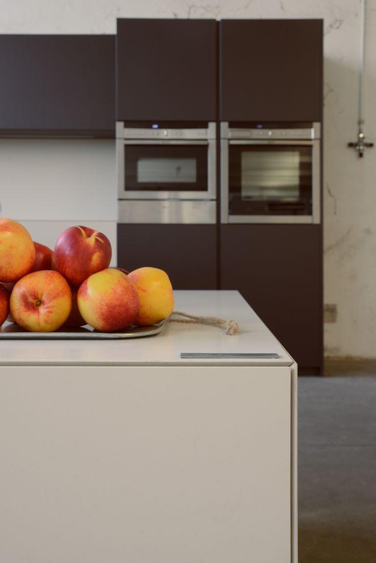 Blat kuchenny z kamienia spiekanego  Bianco Crema Satin -Lapitec® #Lapitec #BiancoCrema #Kitchen #countertop #PentalQuartz #Quartz