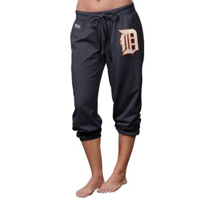 Detroit Tigers Women's Centennial Tri-Blend Capri Pants - Navy Blue