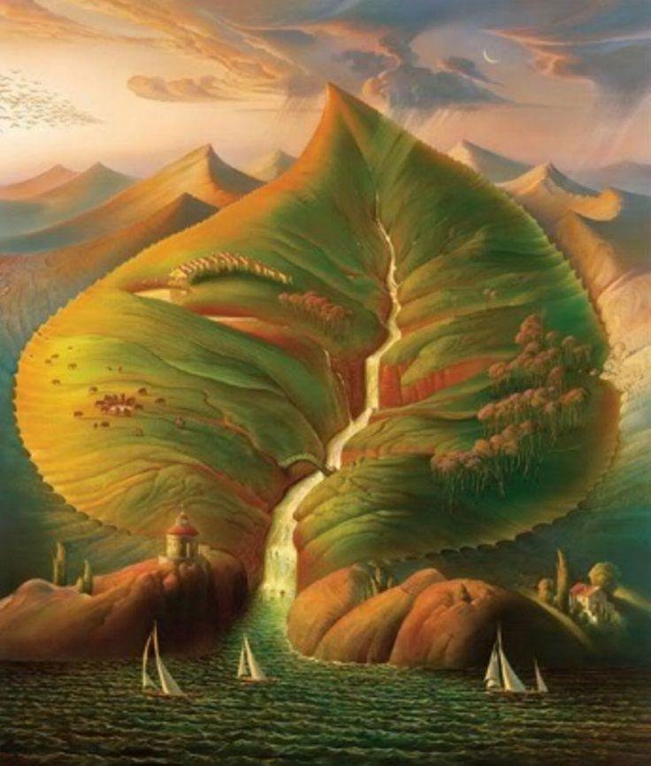 pinturas surrealistas | pinturas-paisajes-surrealistas