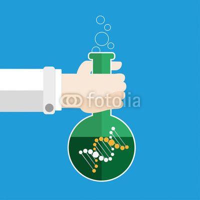 Biologe mit Reagenzglas