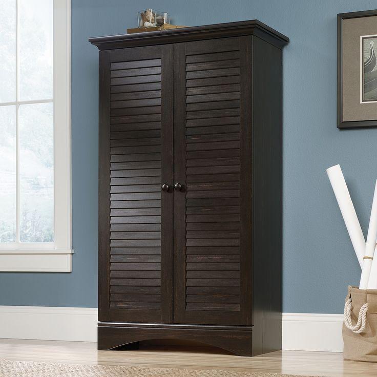 Sauder Woodworking Harbor View Storage Cabinet, White