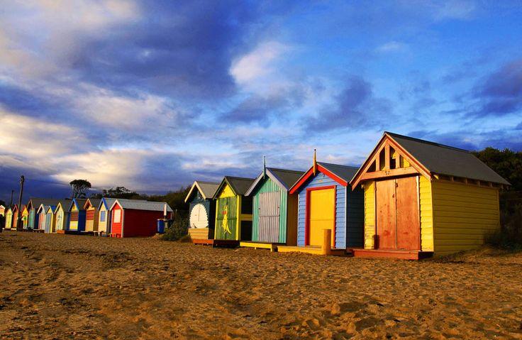 #Brighton beach, #Melbourne, #Australia bath houses