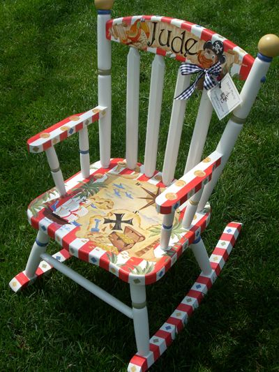 Personalized Handpainted Rocking Chairs  Rocking Chairs for Kids ...